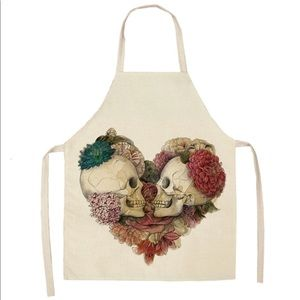 Other - NEW Apron Heart Skulls Cooking Crafts Decor